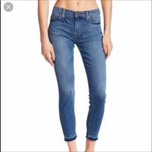 Hudson Natalie Cropped Skinny Released Hem Jeans
